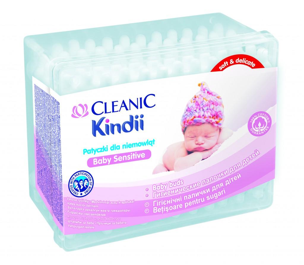 Patyczki bawełniane Cleanic Kindii