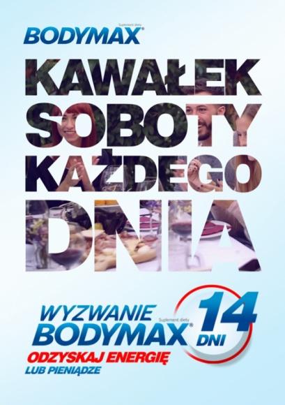 Bodymax wraca z nową energią od Communication Unlimited BIZNES, Farmacja - Z początkiem marca 2017 r. wystartowała kampania reklamowa marki Bodymax – jednego z liderów na rynku suplementów diety w Polsce - z portfolio Orkla Care. Za opracowanie koncepcji i obsługę nowej platformy komunikacyjnej odpowiada agencja Communication Unlimited.